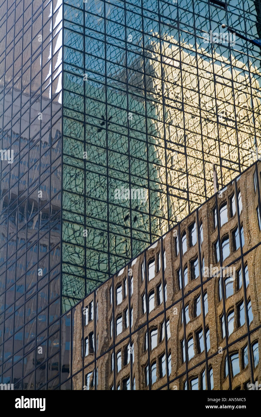New York City Glass Windows And Reflections On Buildings