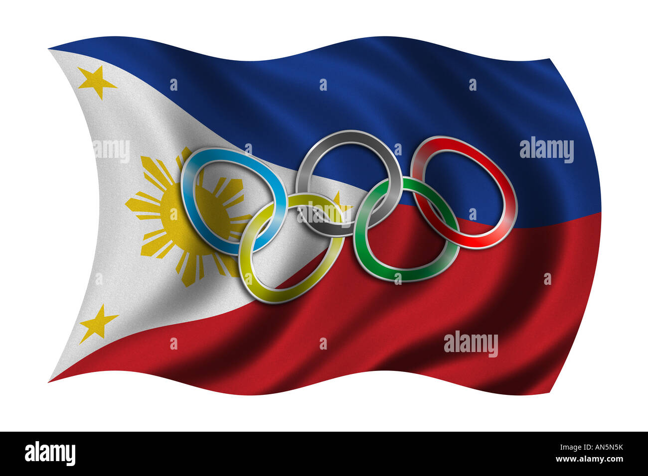 Flag of philippines with olympic symbol stock photo 15420558 alamy flag of philippines with olympic symbol buycottarizona Images