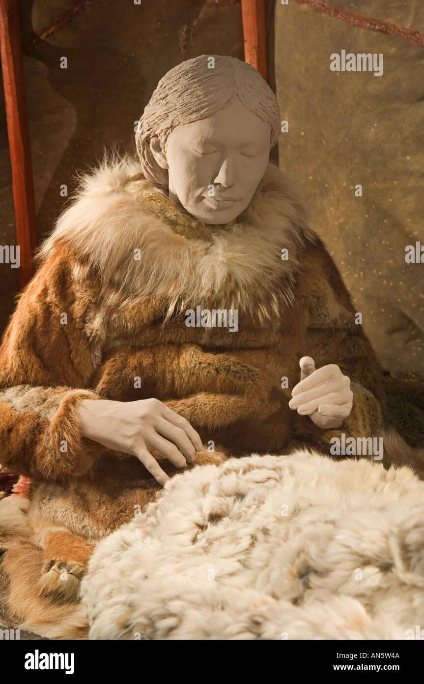 Color art anchorage - Anchorage Museum Of Art And History Athapaskan Culture Exhibit Anchorage Alaska Stock Image