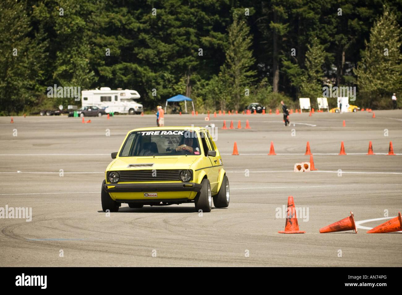 Sports Car Club Of America Autocross Event Held At Hampton Mills