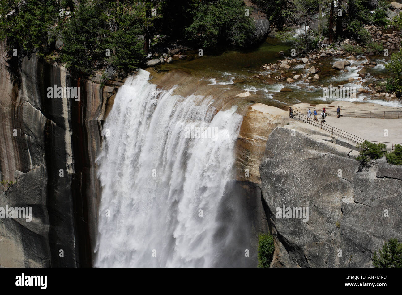 Mist trail Vernal falls Yosemite National Park California USA ...
