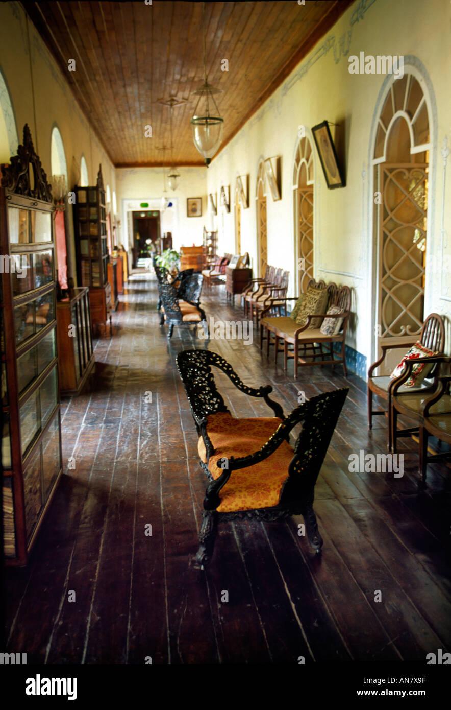 Goan Portuguese Heritage House Indoors Menezes Braganza House Chandor  Village, Goa India