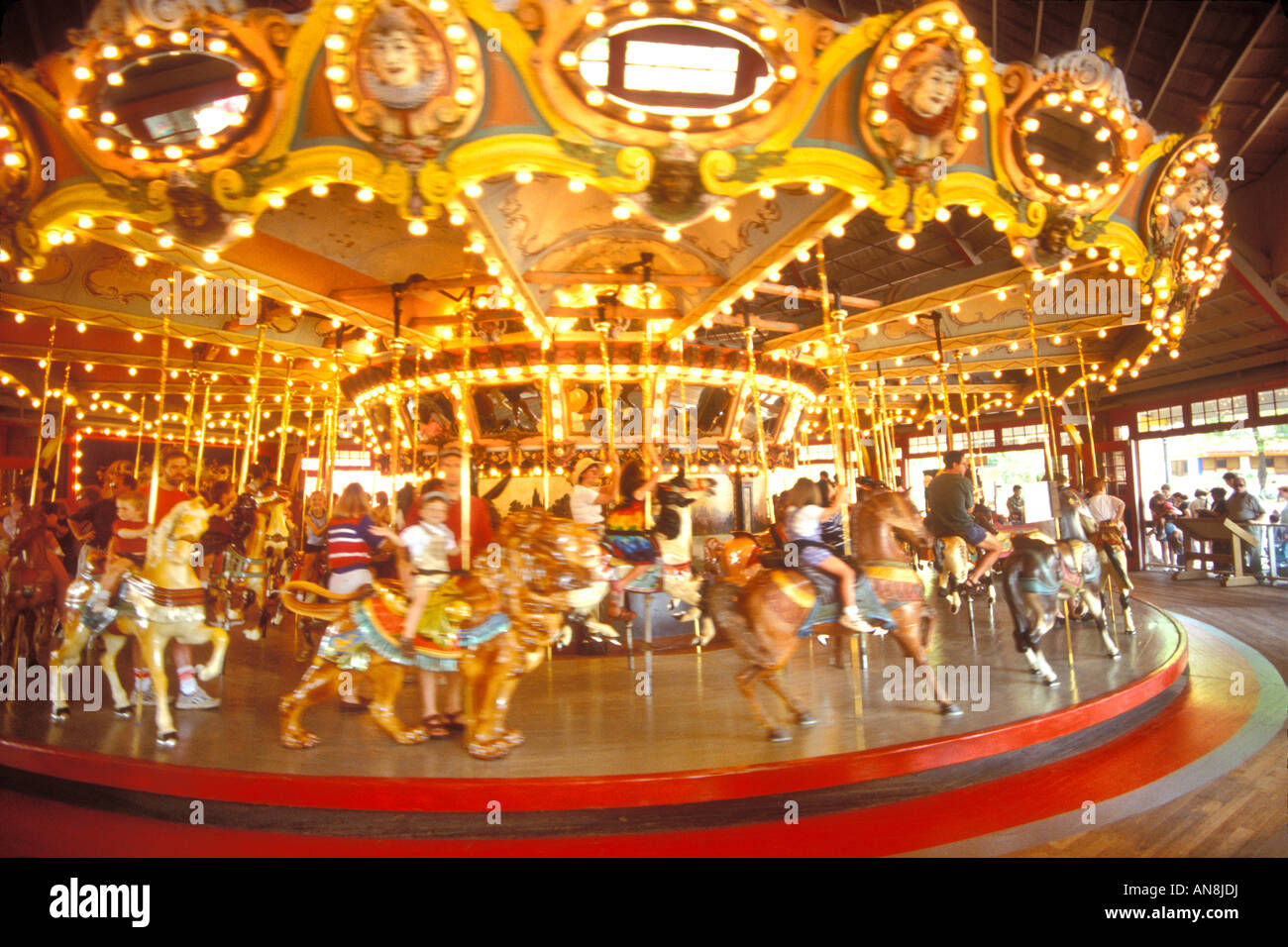 Dentzel Carousel Glen Echo Park George Washington