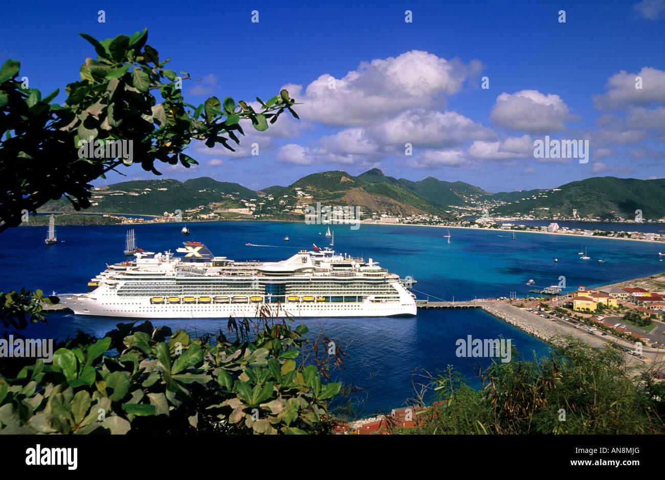 St Maarten St Martin Cruise Ship Philipsburg Capital Caribbean - Philipsburg st maarten cruise ship schedule