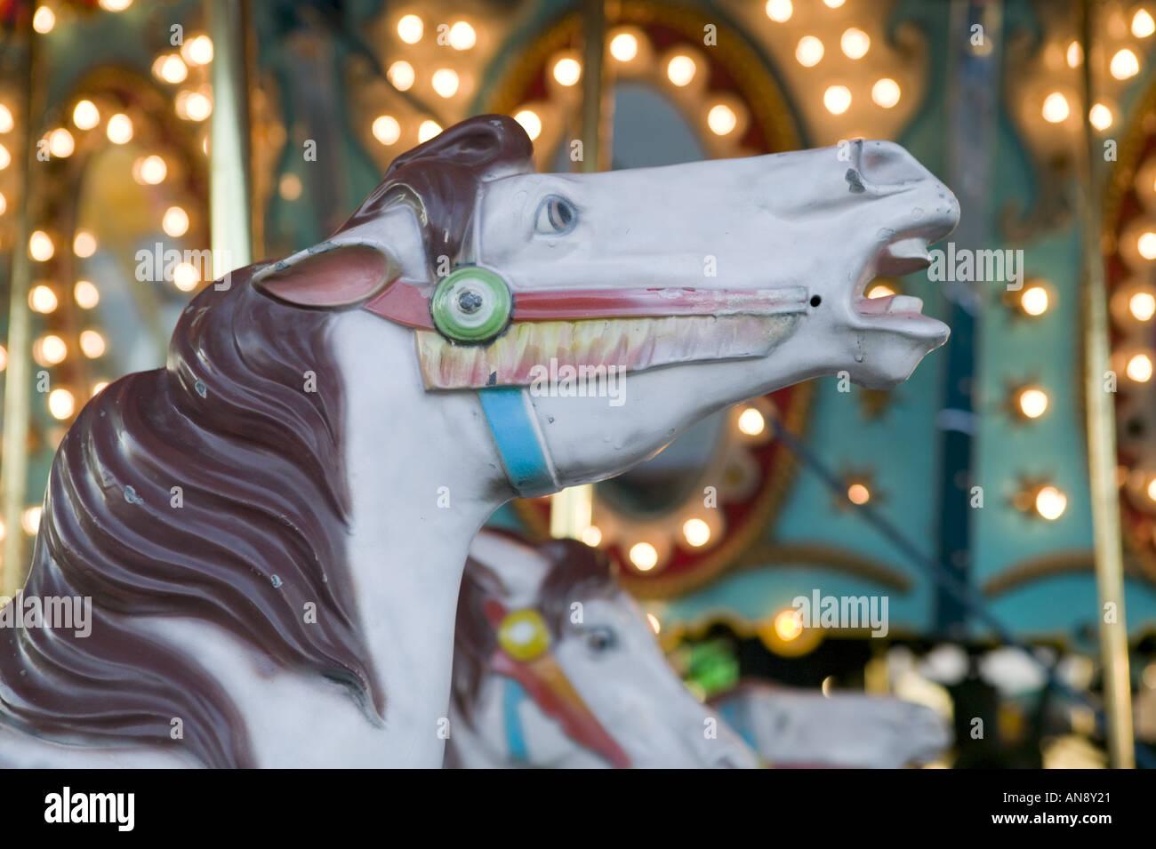 New york montgomery county fonda - Horse Head On Merry Go Round Fonda Fair Montgomery County New York