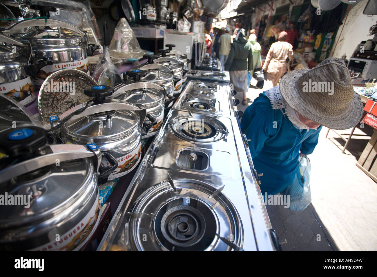 Gas stove store in the souk, Tetouan, Morocco Stock Photo, Royalty ...