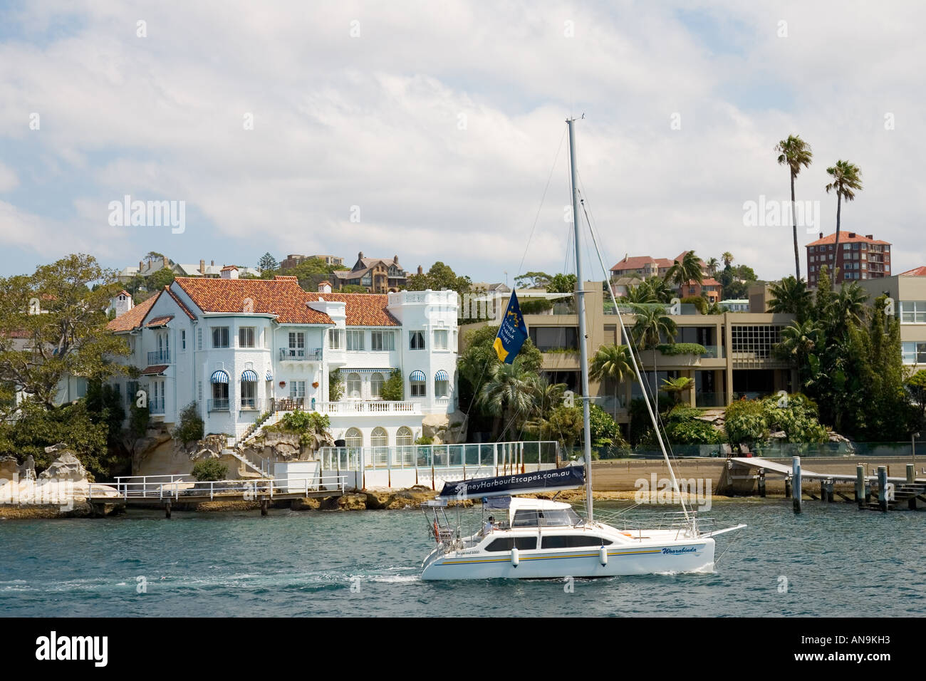 Colonial Style House Sydney Waterfront Residences Australia Stock Photo Royalty Free Image