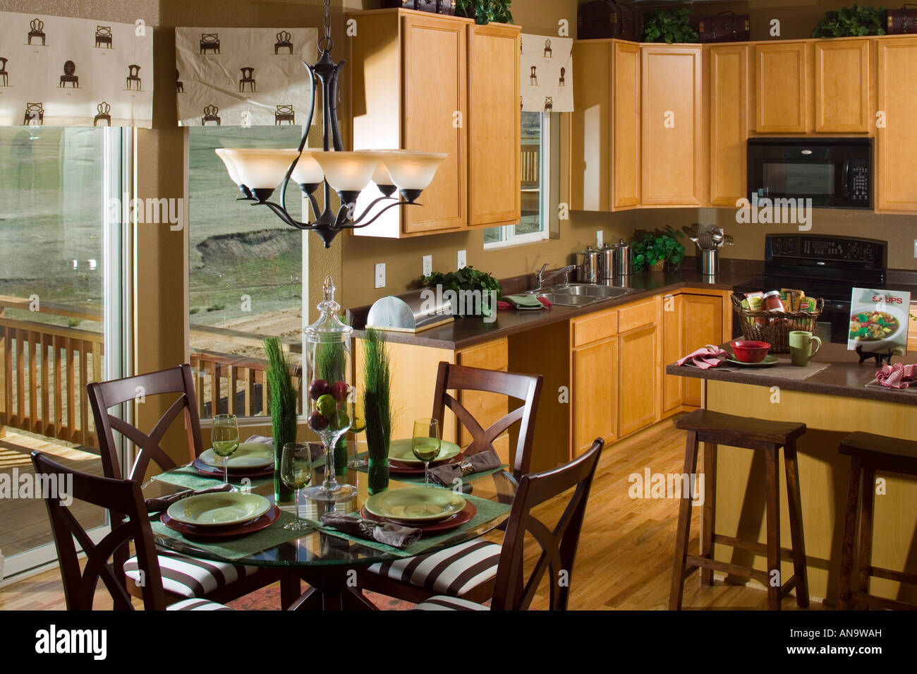 Denver Colorado Real Estate Single Family Home Middle Class Interior Kitchen Dining Room Table And Chairs