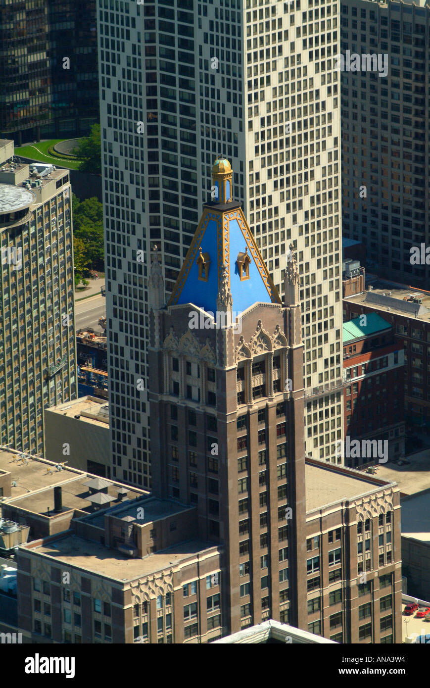 Exceptional Aerial View Of Former American Furniture Mart Building And Playboy  Headqurters From John Hancock Center In Chicago Illinois USA