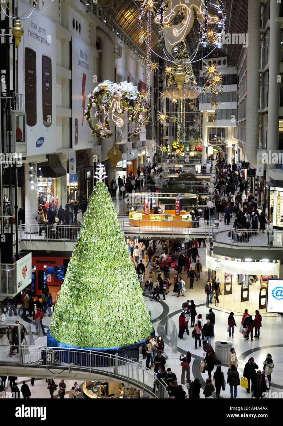 Toronto Eaton Centre Christmas Decoration In A Shopping Mall