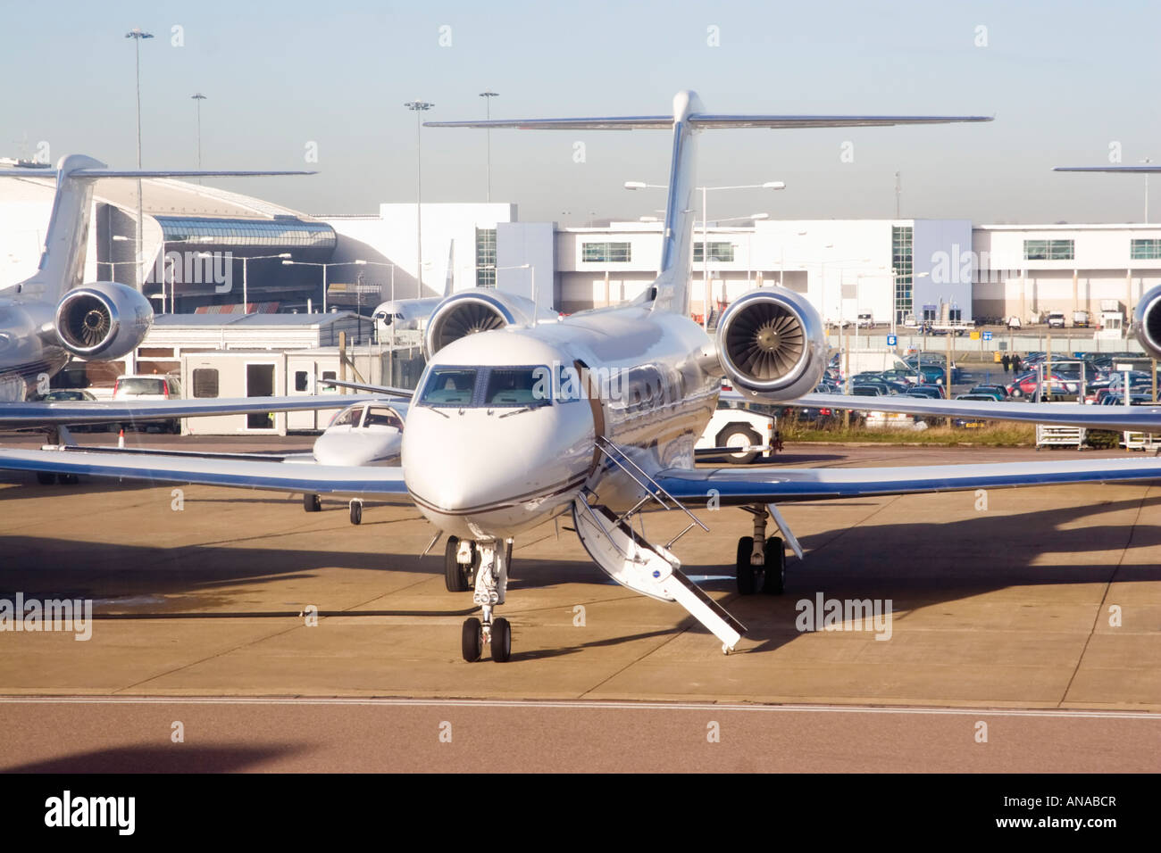 Private Jet At London Luton Airport Stock Photo Royalty Free Image 15464326