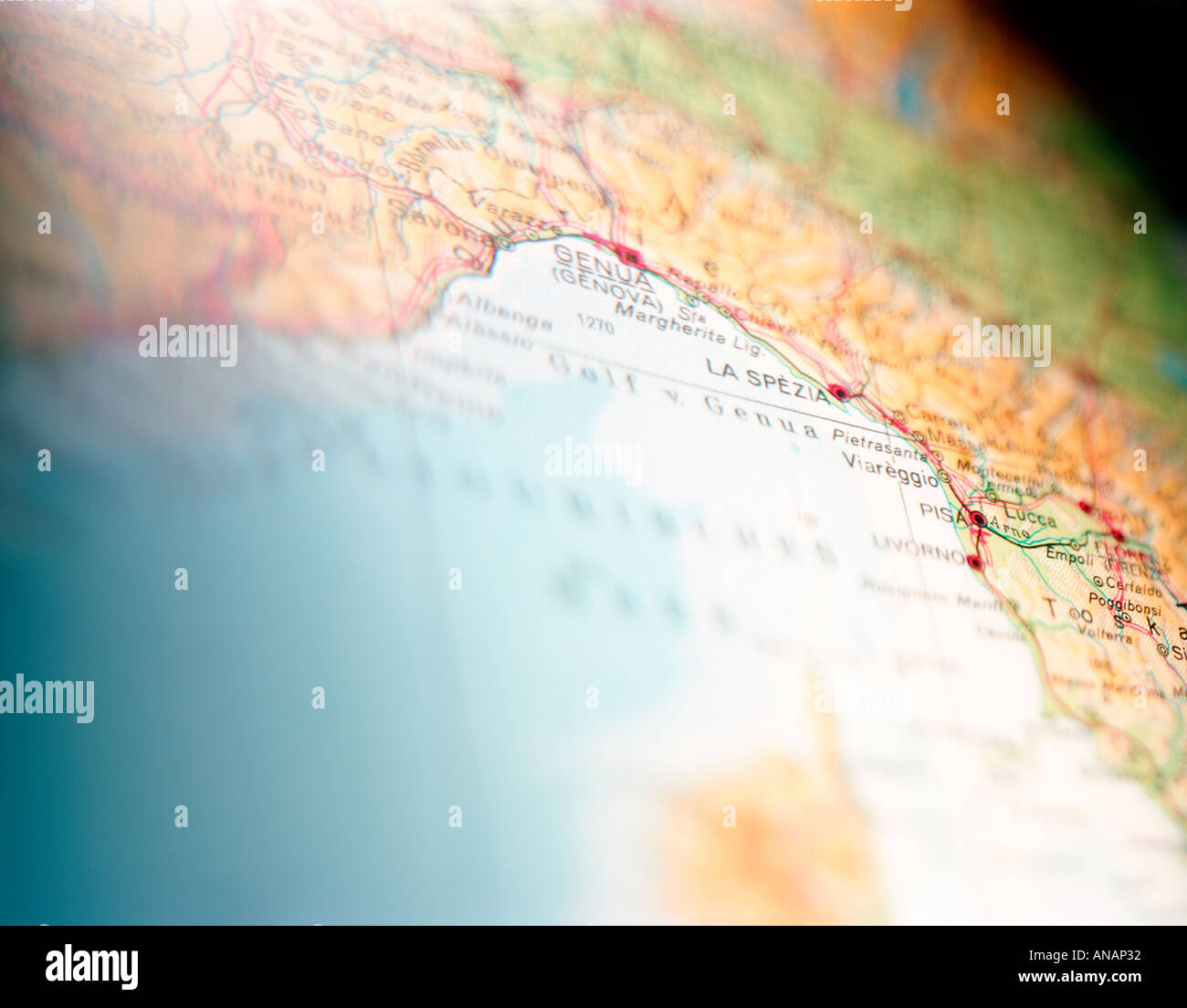 italian riviera map