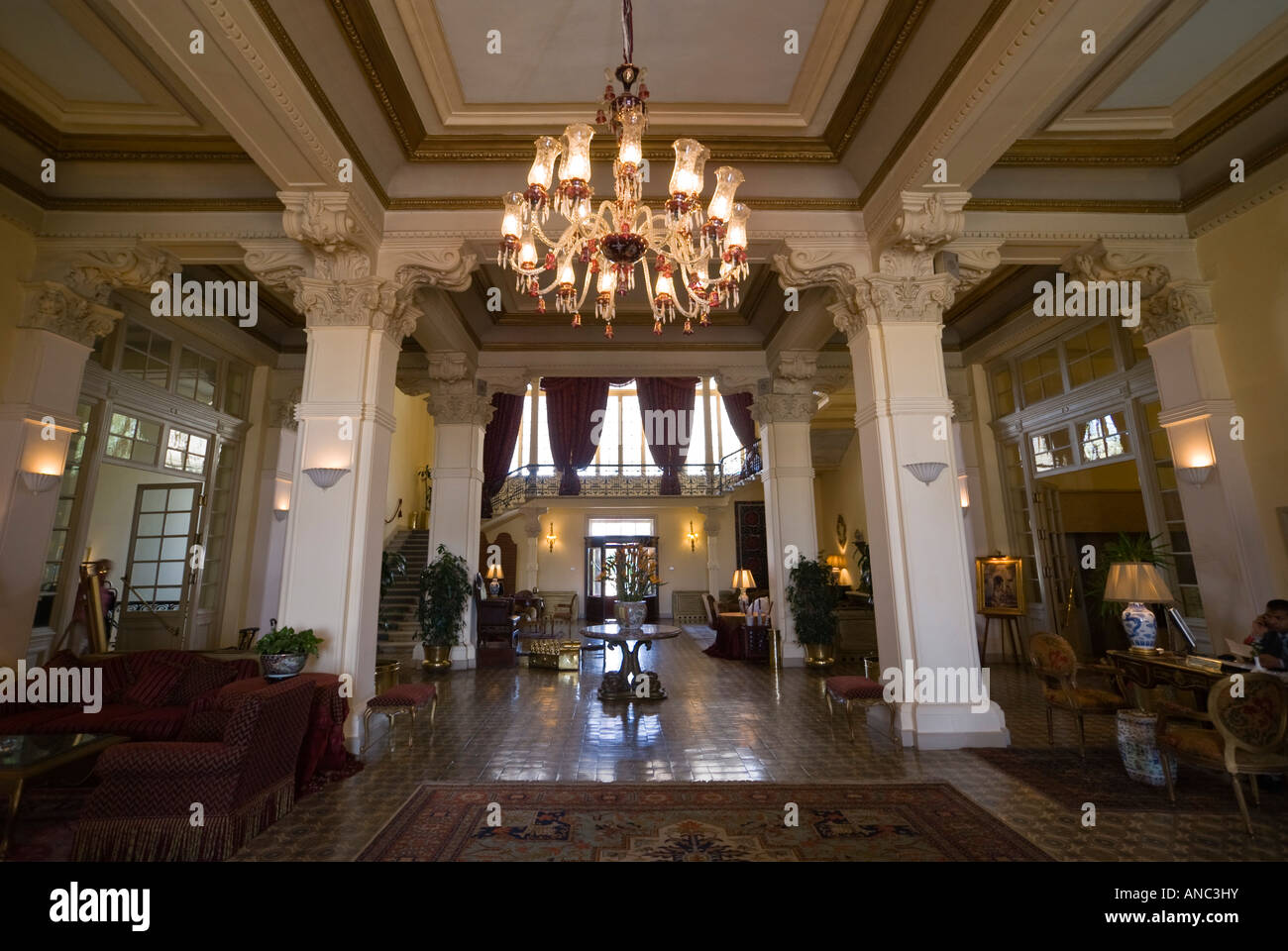 Foyer And Entrance Of The Windsor Hotel : Luxor the winter palace hotel main reception foyer or