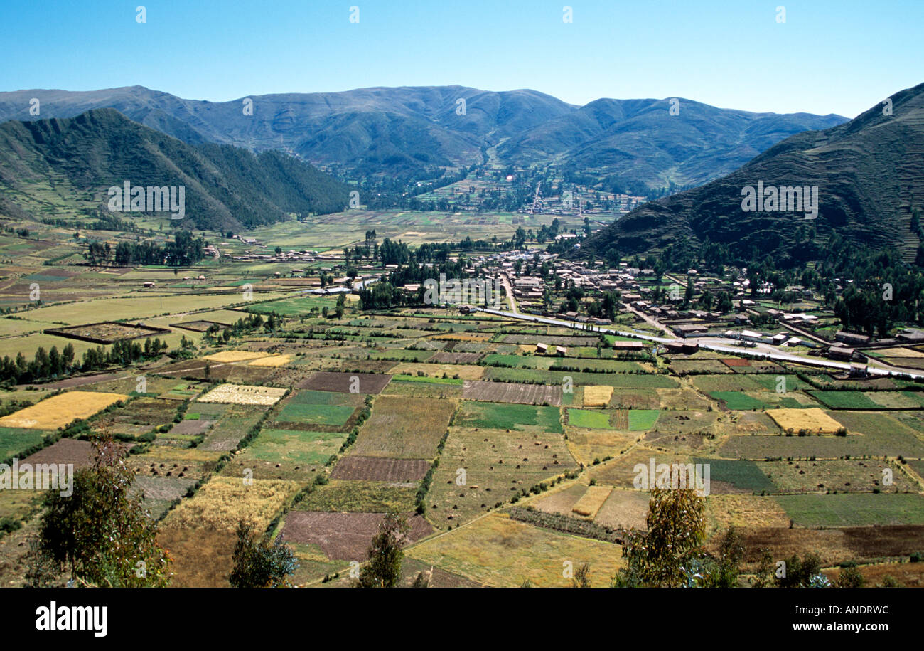 Mountain living near cusco peru royalty free stock photo - Overlooking Corao Near Cusco Peru