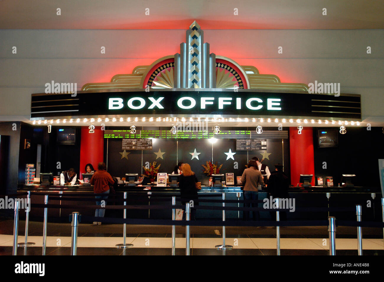 Art deco box office of the loew s lincoln square movie theater stock photo royalty free image - Classement film box office ...