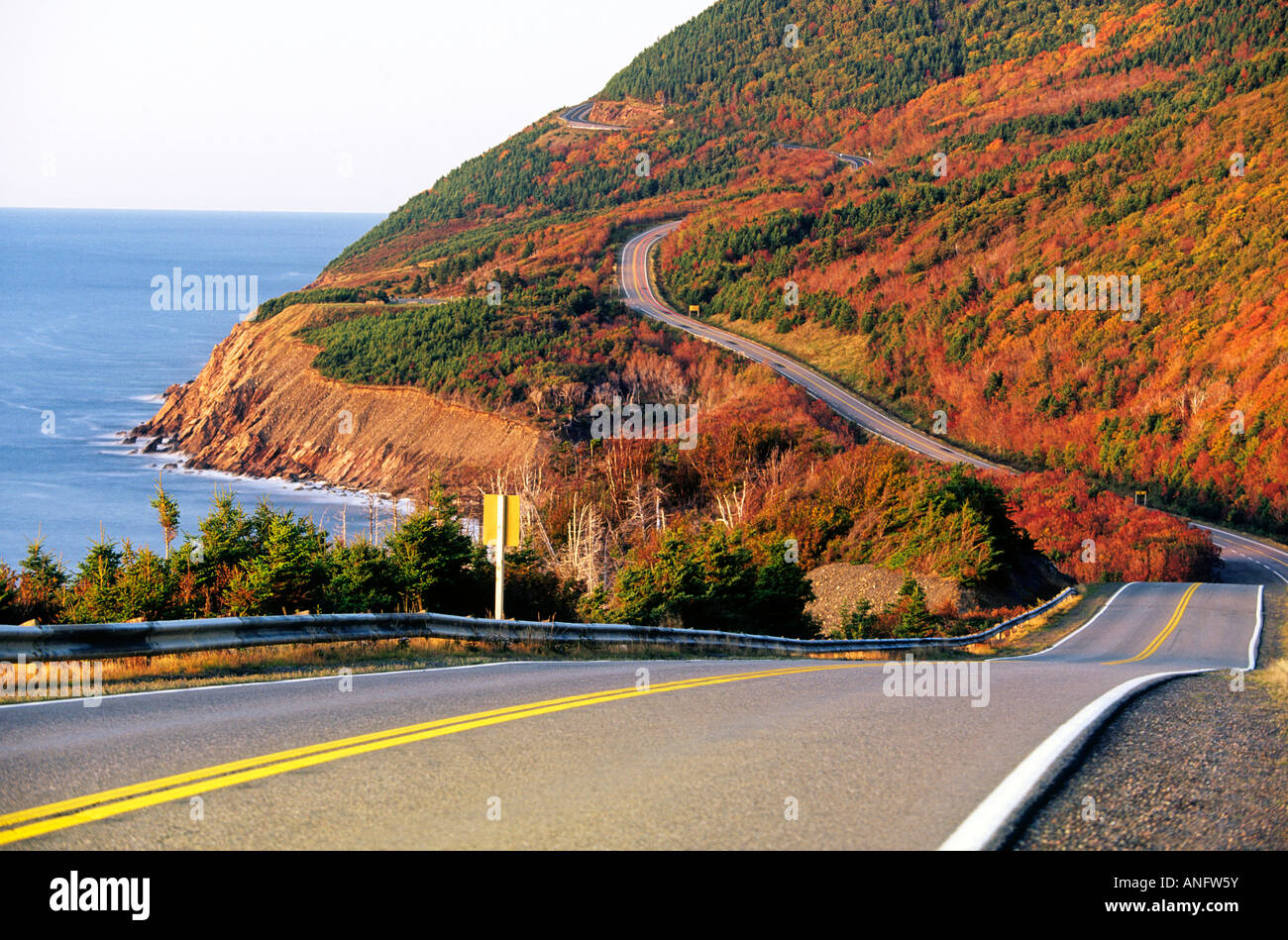 Coastal Highway French Mountain Cabot Trail Cape Breton