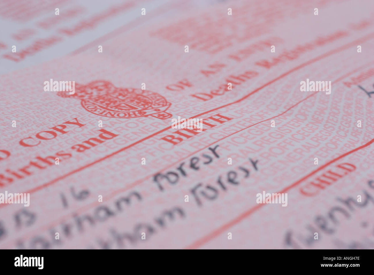 Uk birth certificate stock photo royalty free image 5067133 alamy uk birth certificate aiddatafo Gallery