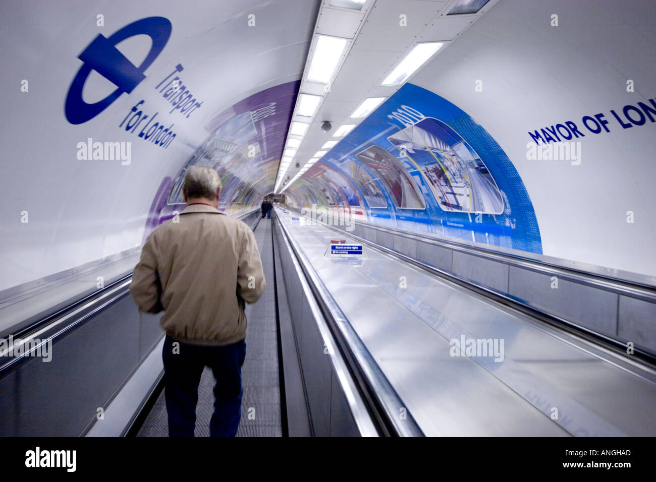 ... Travelator Moving Staircase At Bank Station With TFL Transport For  London And Mayor Of London Information