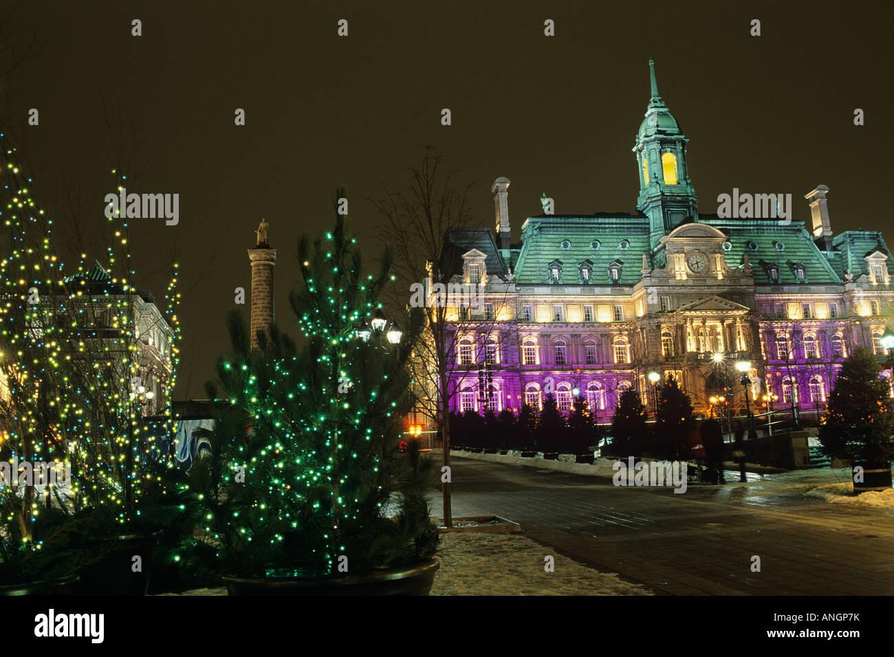 Montreal City Hall Christmas Stock Photos & Montreal City Hall ...