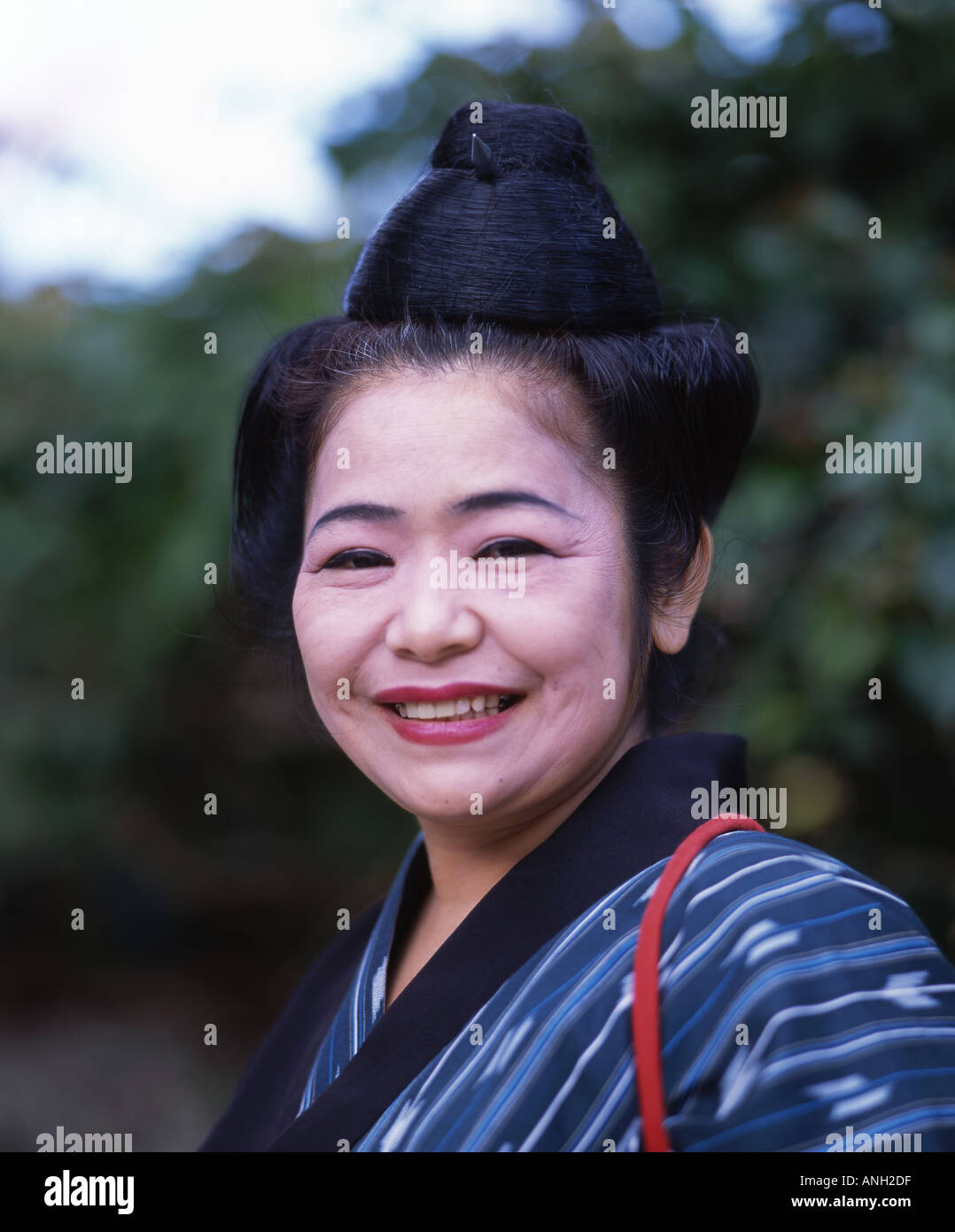 Elderly Okinawan Woman With Traditional Hair Style
