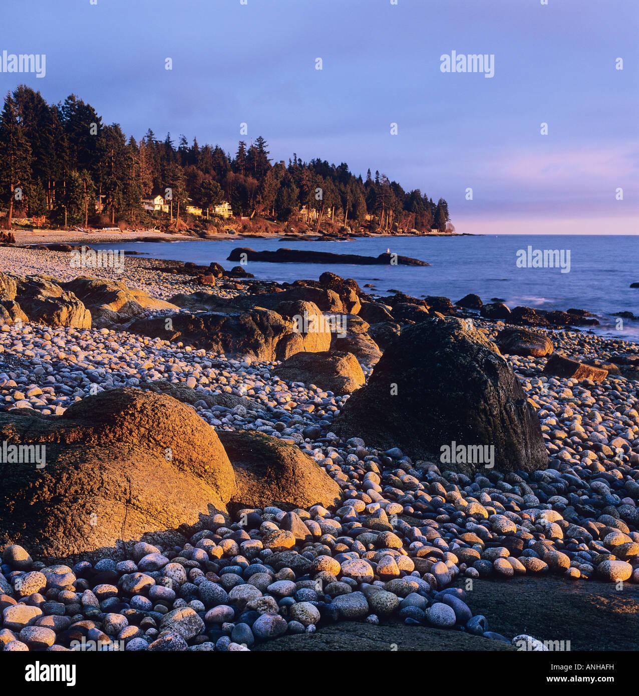 Flume Beach Cabins Sunset Roberts Creek Sunshine Coast