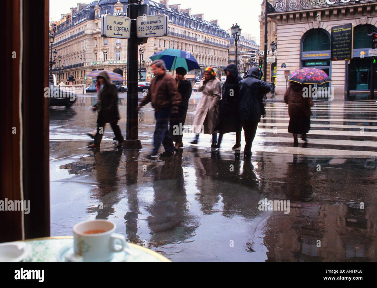 paris street wet day
