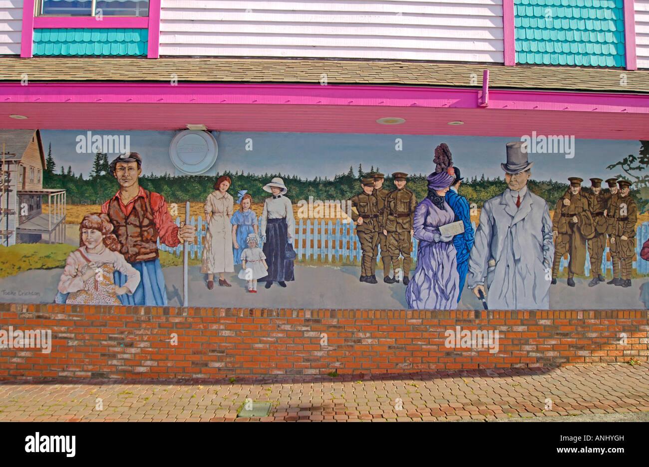 Chemainus creative outdoor wall mural the war years circa 1915 chemainus creative outdoor wall mural the war years circa 1915 painted in 1989 by susan tooke crichton halifax nova scotia amipublicfo Choice Image