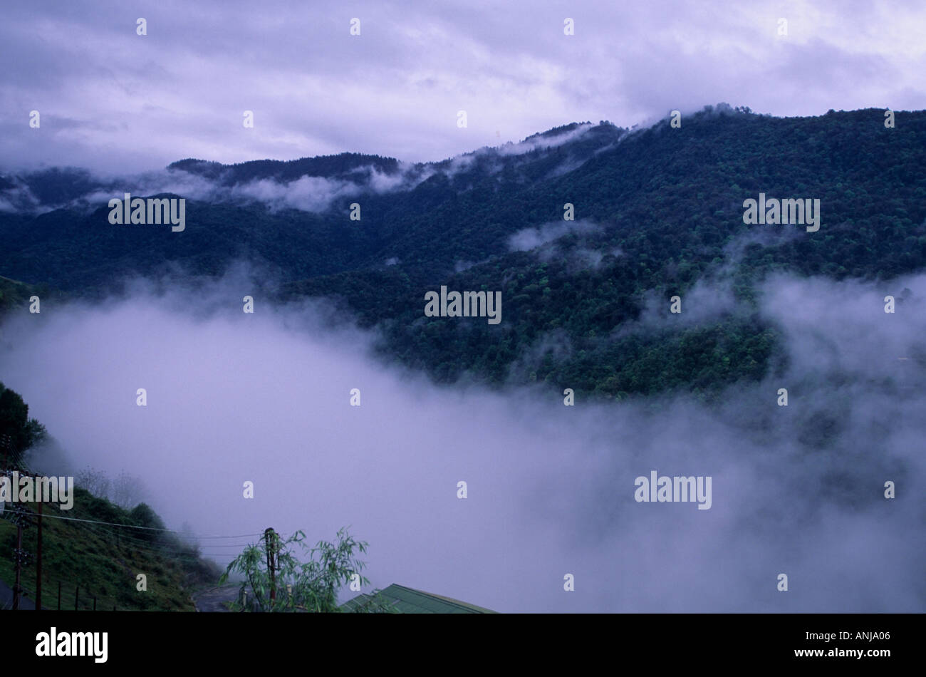 Himalayan Mountains Covered With Clouds At Feet Above Sea - Feet above sea level