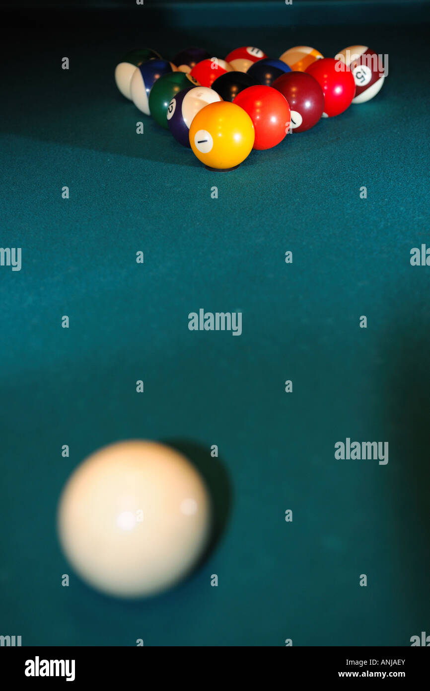Setting Up A Pool Table Pool Table Set Up For A Game Stock Photo Royalty Free Image