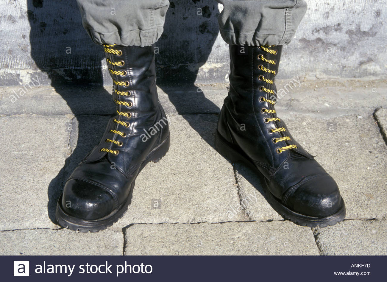 man wearing dr martens boots uk stock photo royalty free. Black Bedroom Furniture Sets. Home Design Ideas