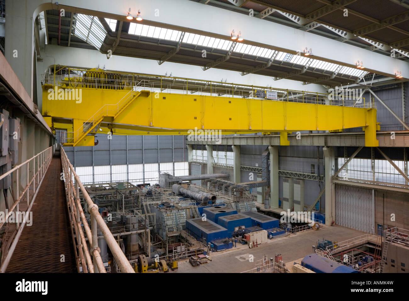 Mobile Gantry Crane Uk : Huge internal yellow gantry crane stock photo royalty