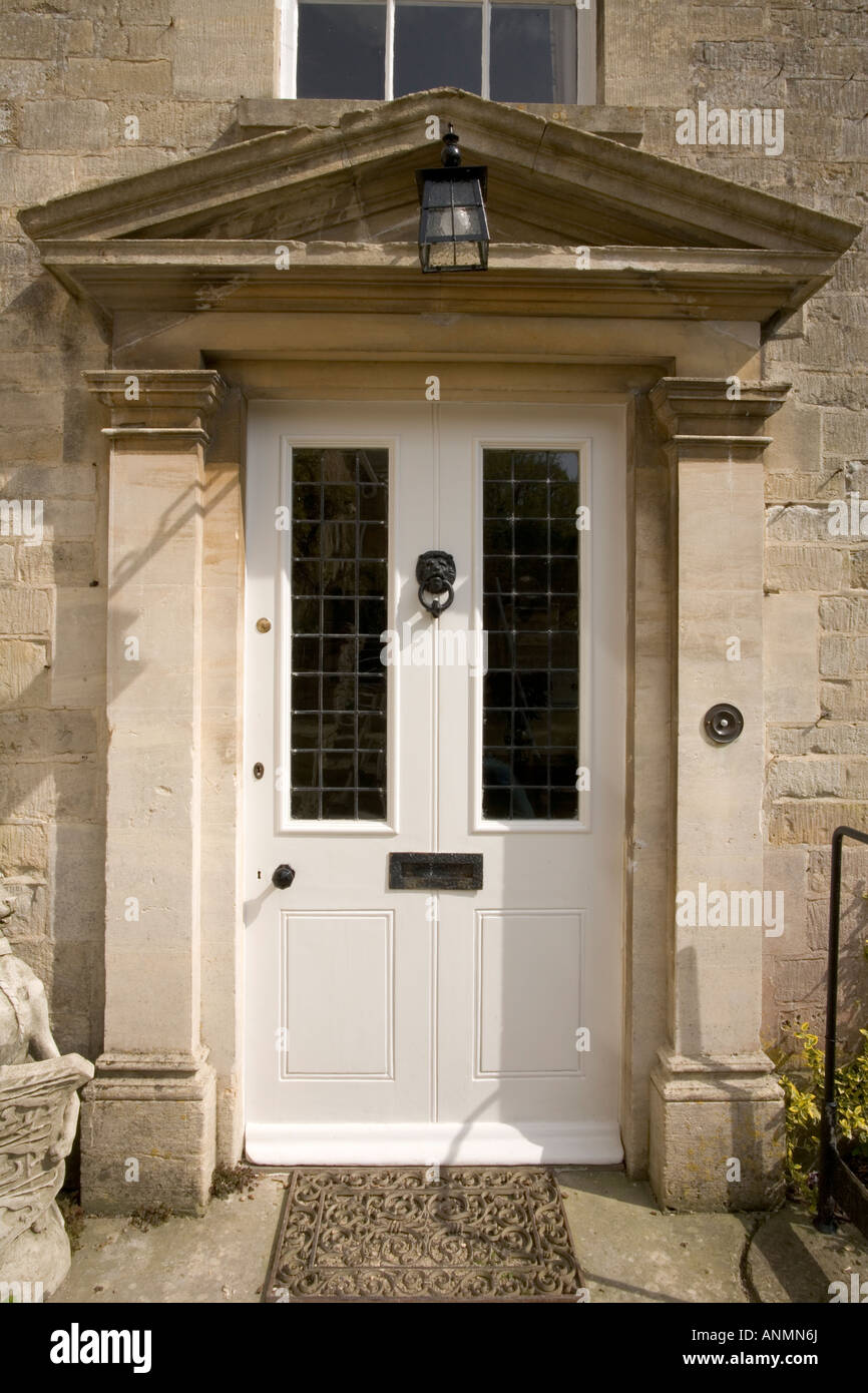 Traditional Grand Front Entrance Door And Portico Painted