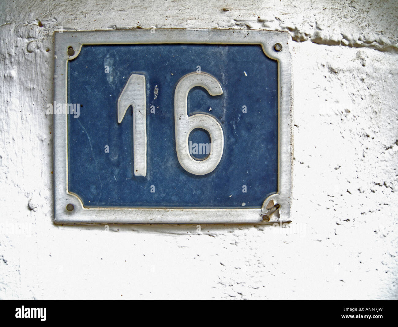 Number sixteen in a house s door stock photo royalty free for Number 16 house