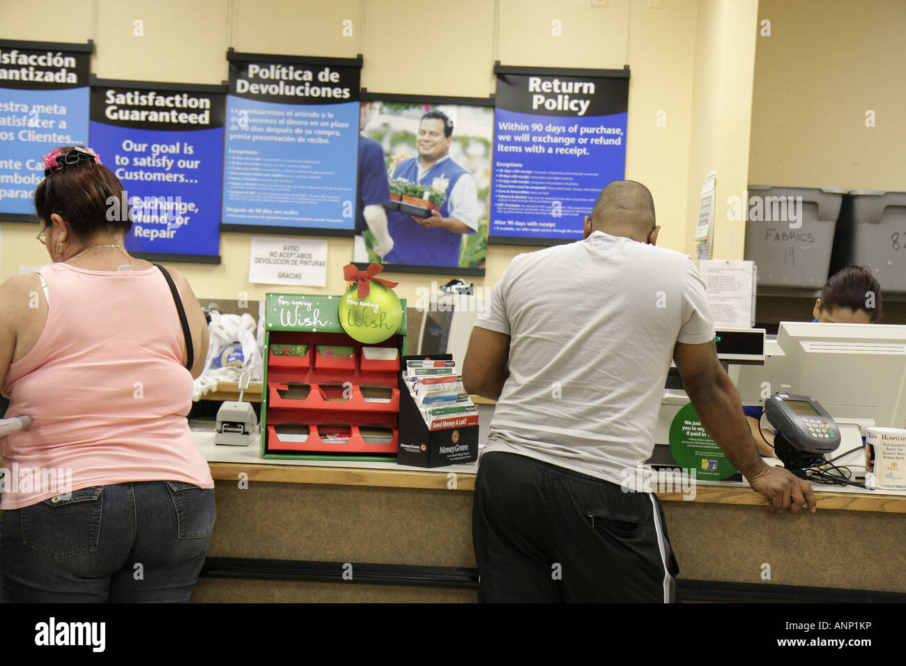 Florida Hialeah Walmart Customer Service Desk Return Policy Posted ...