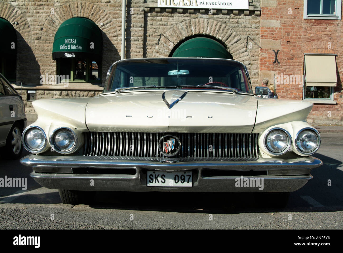 Buick Lasalle Classic American Car Fins Chrome Stock