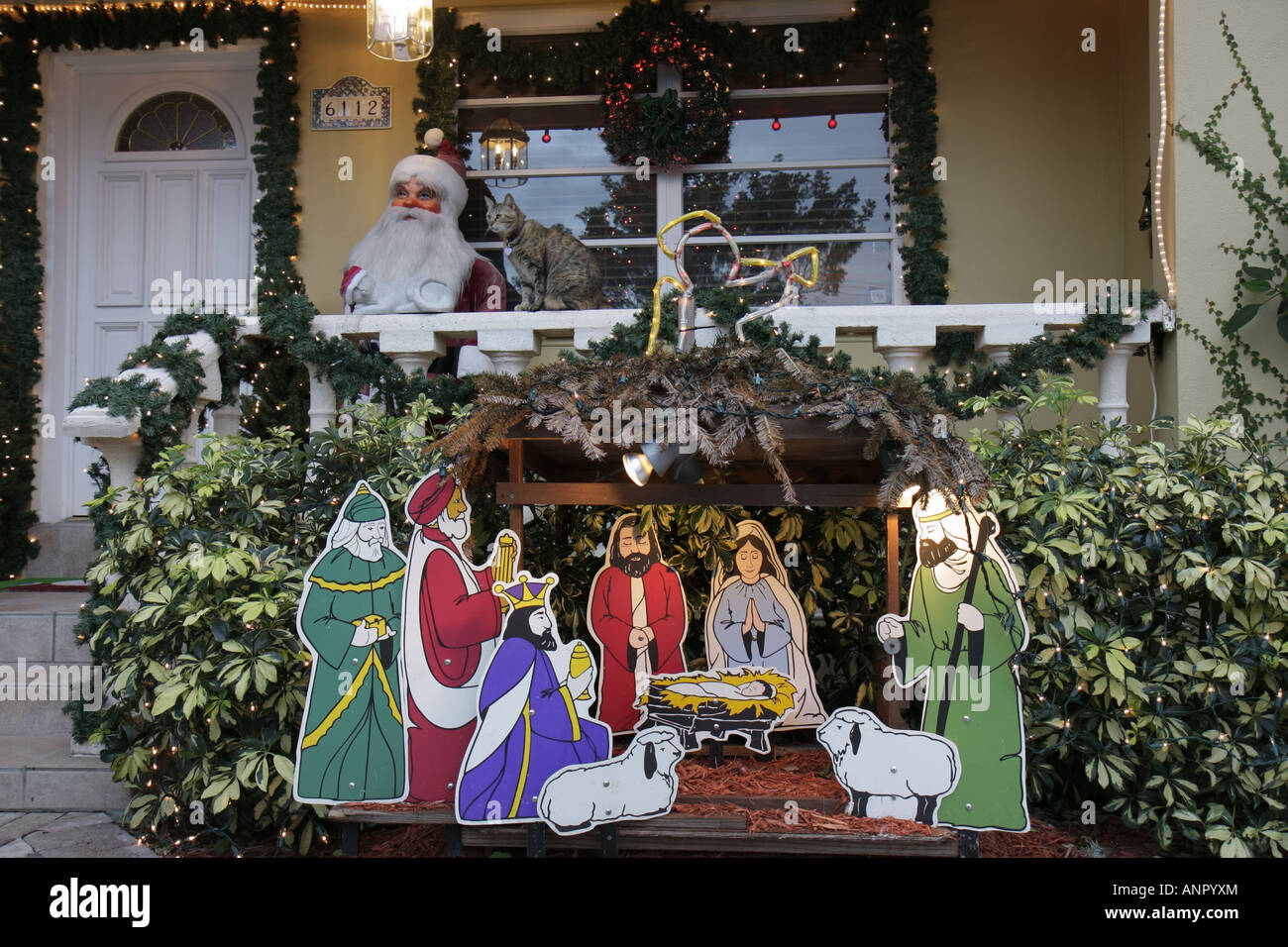 florida west miami christmas winter holiday decoration xmas manger
