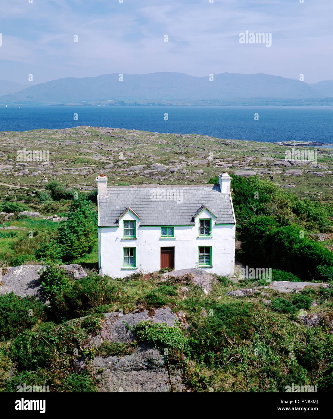 Ireland County Kerry Iveragh Peninsula Two Story House