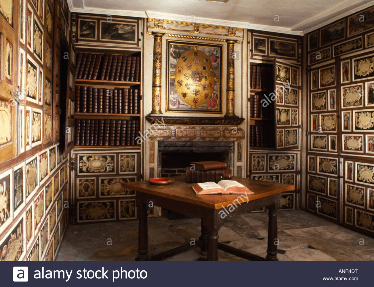Fireplace in Sir John Kederminster Library, St Mary's Church ...
