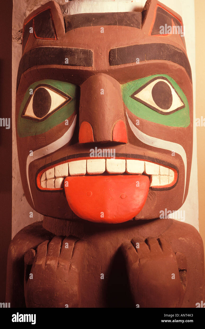 Pacific Northwest Indian Totem Pole Makah Indian Cultural Center Neah
