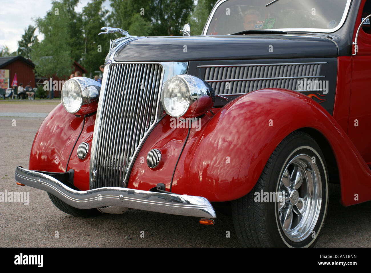 Old Hotrod with crome rim Stock Photo, Royalty Free Image: 15596144 ...