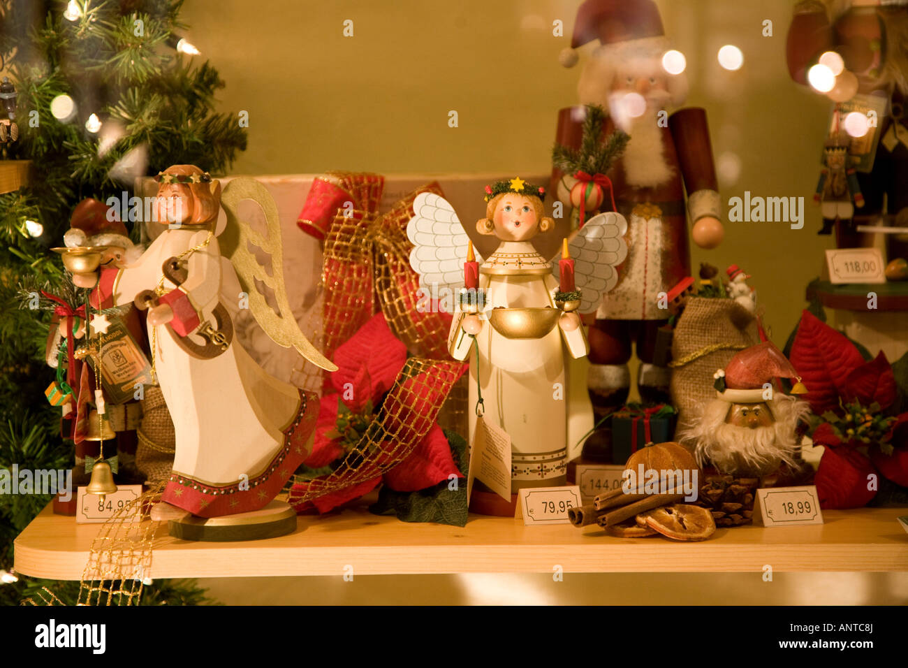 Decorations In Germany During Christmas : Christmas angels on sale in nuremberg market