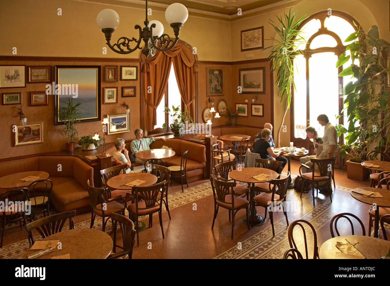 interior of the art deco cafe polizano via voltaia del corso stock