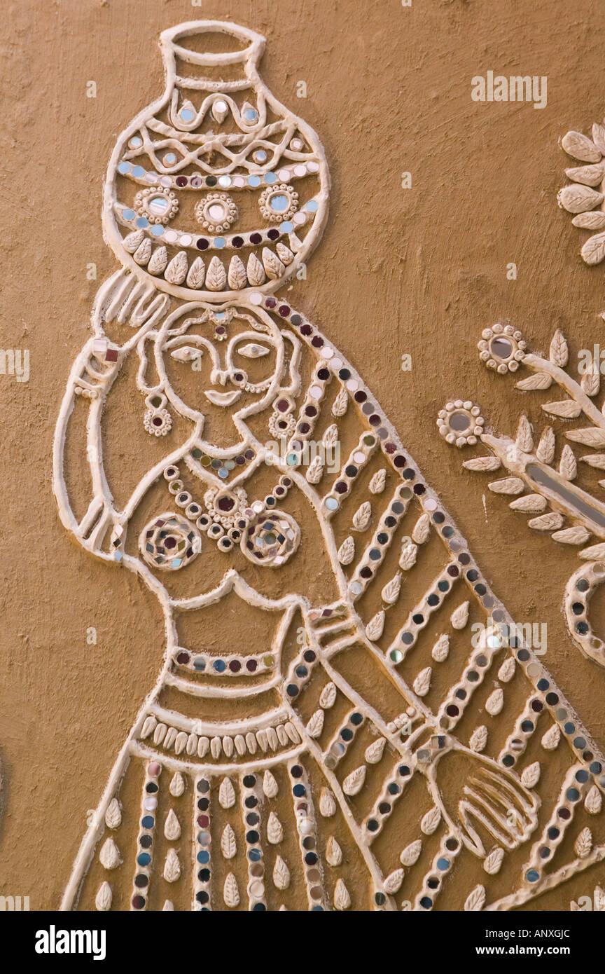 INDIA, South Delhi: Hauz Khas Village, Shopping Village, Indian Themed Wall  Art
