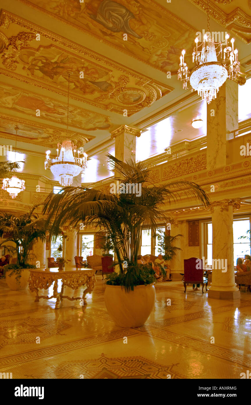 Stock photo the lobby at the french lick springs resort and casino a restored luxury hotel in french lick springs indiana