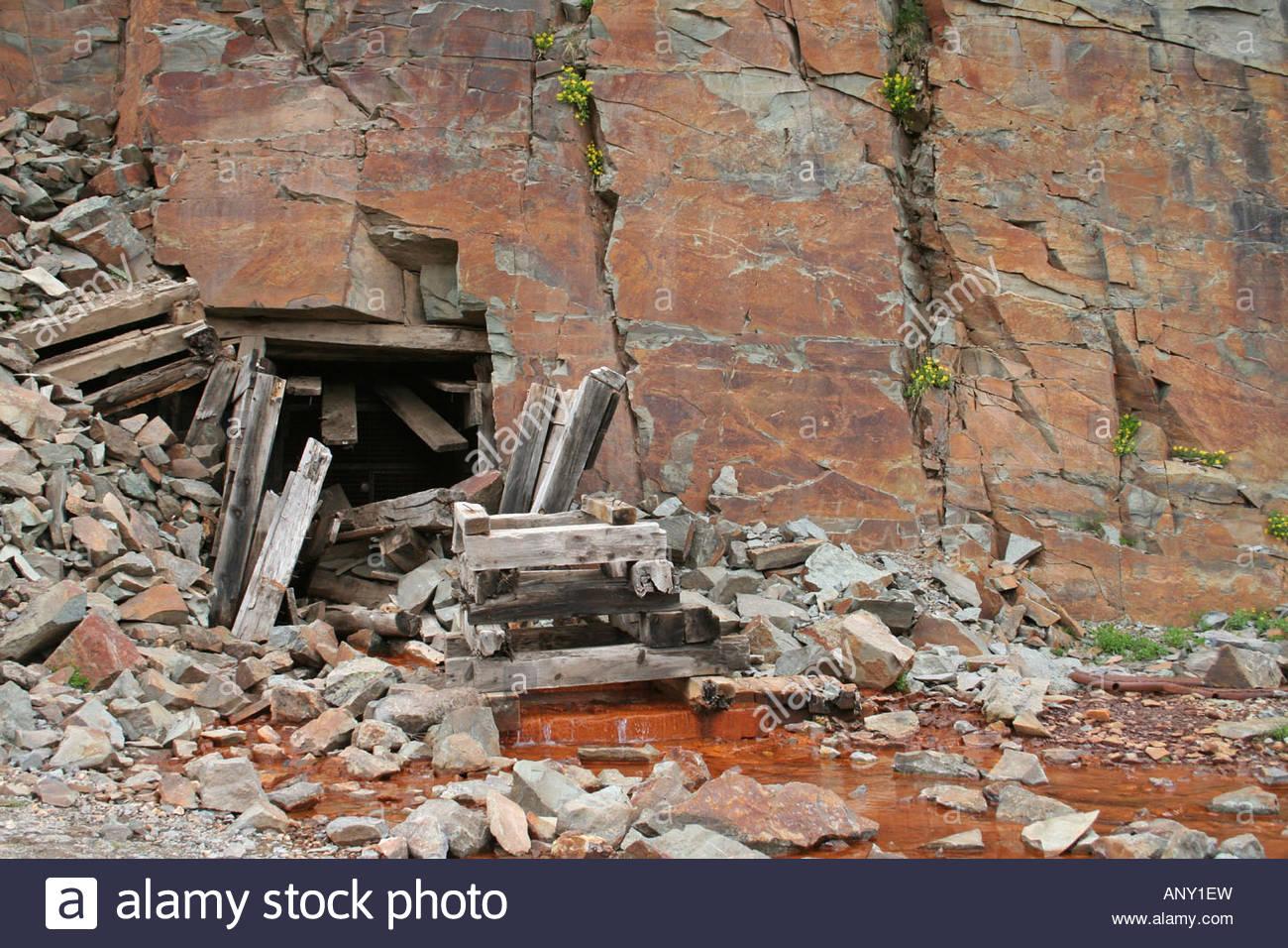 Abandoned mine entrance Stock Photo, Royalty Free Image ...