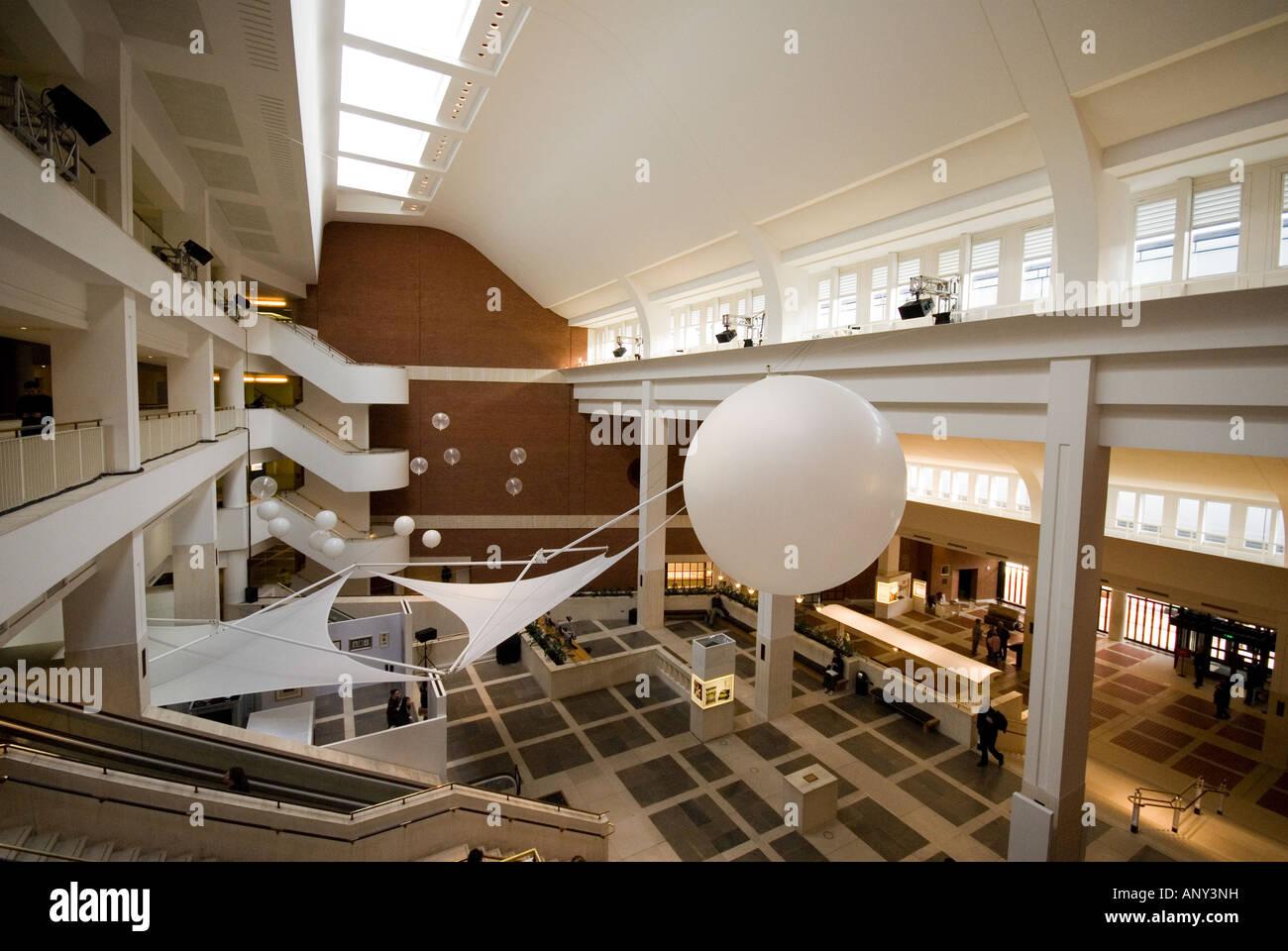 British Library Inside White Balloons London