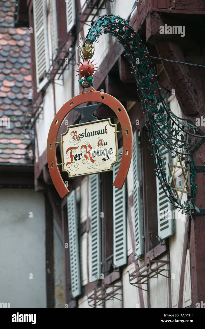 France alsace haut rhin colmar old town restaurant - Fer rouge colmar ...