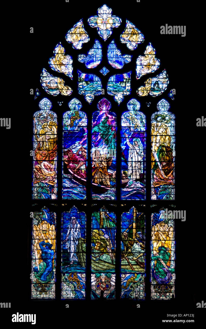 Saint Giles Cathedral Stained Glass Window Edinburgh Church St High Kirk Architecture Gothic Religion Christian Scotland Lothia