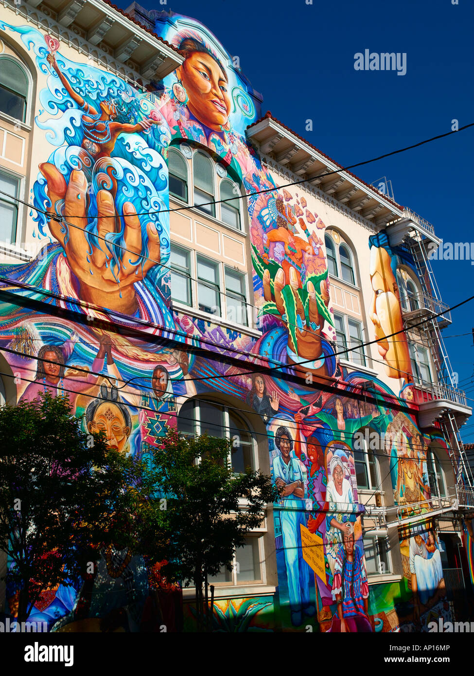 Stock Photo   Wall Murals In The Mission District Of San Francisco Part 71