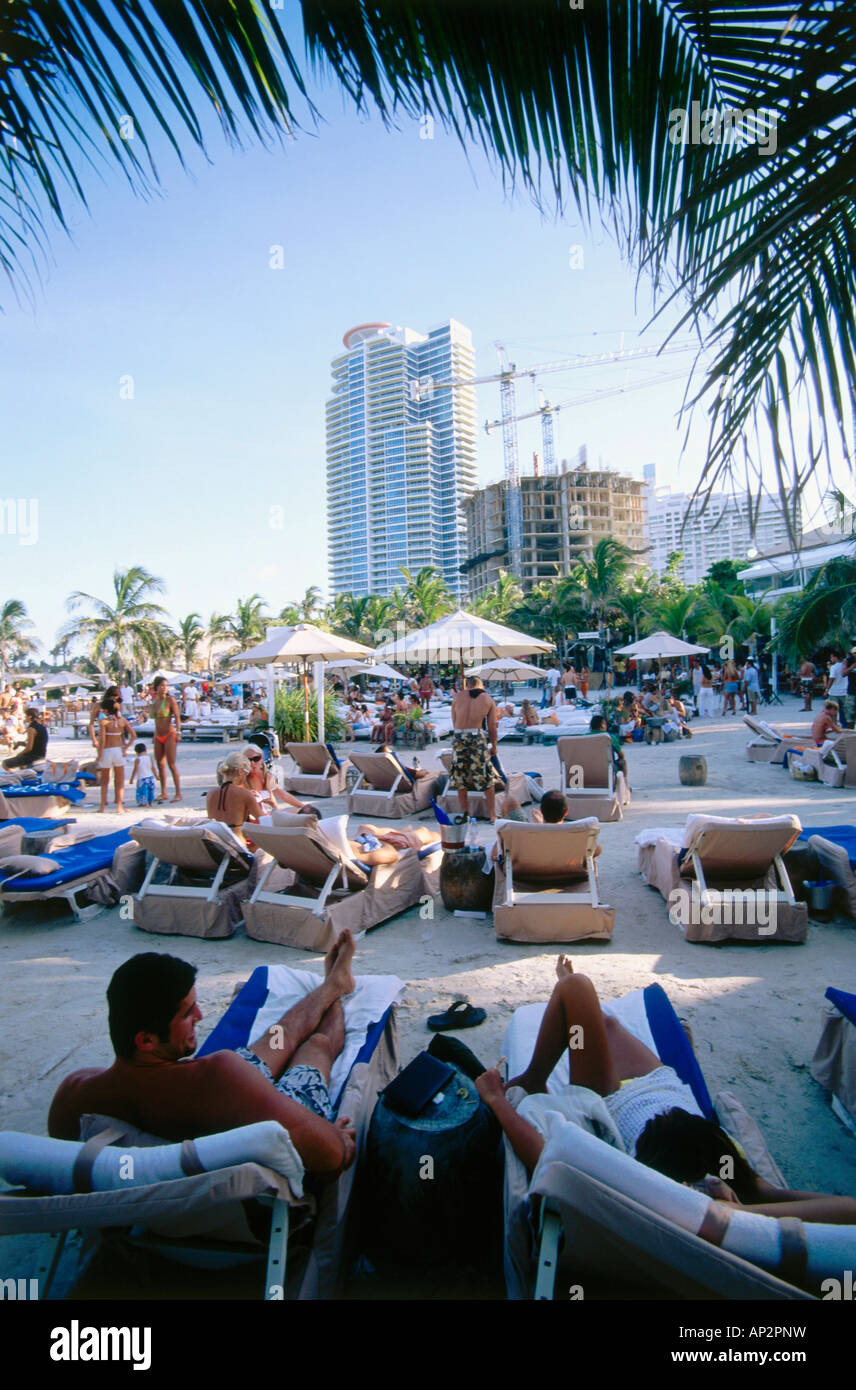 Nikki beach club south beach miami florida usa stock photo